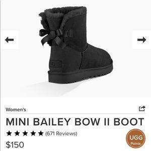 UGG Australia black ankle boots NWOT